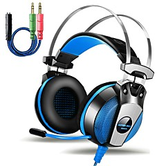 GS500 3.5mm Gaming Headset Headphones with Microphone Stereo Bass LED Light for PlayStation 4 PC Tablet Laptop Smartphone
