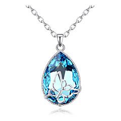 Женский Ожерелья с подвесками Кристалл Хрусталь Позолота Австрийские кристаллы Дружба Симпатичные Стиль Бижутерия Назначение Для