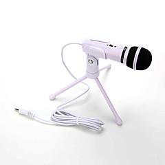 voordelige -warm te koop audio geluidsopname condensator microfoon met shock mount houder clip met vergrendeling knop 3,5 mm aux-aansluiting mobiele