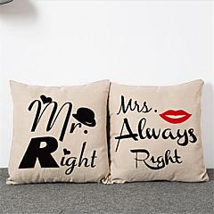 2db egyszerű modern mr. Asszony. párnahuzat otthoni dekoráció párnahuzat