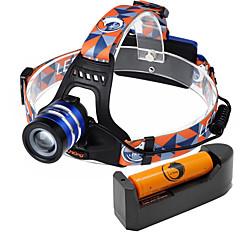 U'King Otsalamput Ajovalo LED 1000 lm 3 Tila Cree XM-L T6 Säädettävä fokus Helppo kantaa High Power Zoomable varten