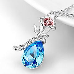 Ожерелья с подвесками Кристалл В форме цветка Роуз Хрусталь Базовый дизайн В виде подвески Бижутерия Назначение Повседневные