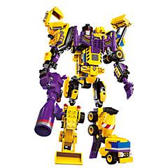 DHZ-kit Bouwblokken Educatief speelgoed Robot Speeltjes Speeltjes Krijger Machine Robot Vorkheftruck Graafmachine transformable Jongens