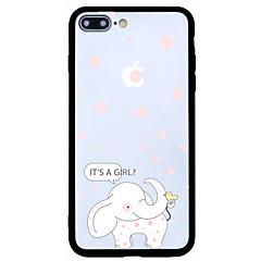 Для Защита от пыли С узором Кейс для Задняя крышка Кейс для Слон Твердый Акрил для AppleiPhone 7 Plus iPhone 7 iPhone 6s Plus/6 Plus