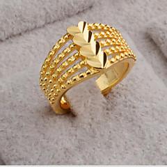 Женский Кольцо Любовь Сердце Открытые бижутерия Мода Регулируется Позолота 18K золото В форме сердца Бижутерия Назначение Для вечеринок