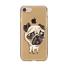 Mert Átlátszó Minta Case Hátlap Case Kutya Puha TPU mert AppleiPhone 7 Plus iPhone 7 iPhone 6s Plus/6 Plus iPhone 6s/6 iPhone SE/5s/5