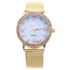 お買い得  レディース腕時計-女性用 ファッションウォッチ ドレスウォッチ リストウォッチ クォーツ クリエイティブ ラインストーン 模造ダイヤモンド 合金 バンド ハンズ ゴールド - ゴールド