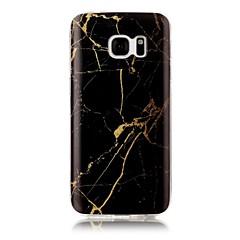 Mert IMD Minta Case Hátlap Case Márvány Puha TPU mert Samsung S7 edge S7 S6 edge S6 S5 S4 S3