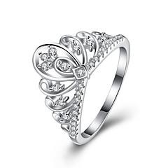 Кольцо ЦирконийБазовый дизайн Уникальный дизайн Сердце Геометрический Дружба Простой стиль Классика Искусственный жемчуг Кроссовер Мода