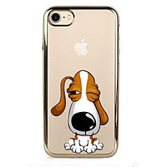 Для Покрытие Кейс для Задняя крышка Кейс для С собакой Мягкий TPU для AppleiPhone 7 Plus iPhone 7 iPhone 6s Plus/6 Plus iPhone 6s/6