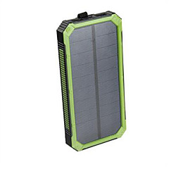 Portable Solar Power Bank Dual USB Power Bank 16000mAh Waterproof Power Bank Bateria External Portable Solar Panel with LED Light