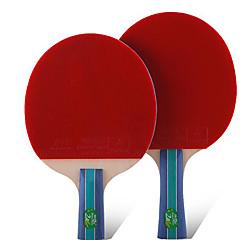 2 Gwiazdki Ping Pang/Rakiety tenis stołowy Ping Pang Guma Krótki uchwyt Pryszcze