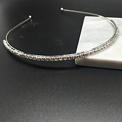 tiara de cristal strass prata para as mulheres menina festa de casamento informal