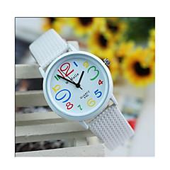 お買い得  レディース腕時計-女性用 スポーツウォッチ クォーツ / Plastic バンド ビンテージ ブラック 白 レッド ピンク