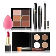 Concealer/Contour+Oogschaduw Mascara's Eyeliners+Lipsticks+Make-up borstels Ogen Gezicht LippenVochtigheid Concealer Oneffen huidtint
