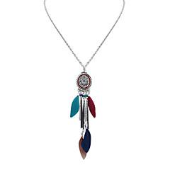 preiswerte Halsketten-Damen Anhängerketten - Quaste, Europäisch, Modisch Deep Green, Regenbogen, Khaki Modische Halsketten Für Normal