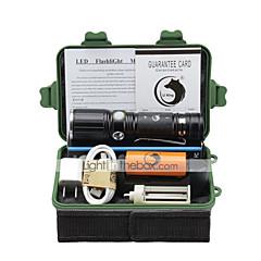 U'King LED Lommelygter Lommelygtesæt LED 2000 lm 3 Tilstand Cree XM-L T6 Justerbart Fokus Klemme Zoombar for Camping/Vandring/Grotte