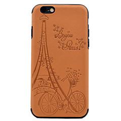 Для Рельефный С узором Кейс для Задняя крышка Кейс для Эйфелева башня Мягкий Искусственная кожа для AppleiPhone 7 Plus iPhone 7 iPhone 6s