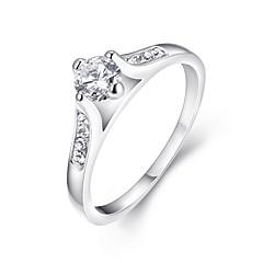 preiswerte Ringe-Damen Kristall Bandring - Zirkon, Aleación Klassisch, Modisch 6 / 7 / 8 Silber Für Hochzeit / Party / Halloween