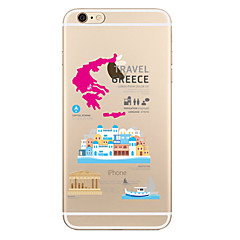 Для Прозрачный С узором Кейс для Задняя крышка Кейс для Панорама города Мягкий TPU для AppleiPhone 7 Plus iPhone 7 iPhone 6s Plus iPhone