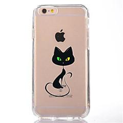 Недорогие Кейсы для iPhone-Для Прозрачный С узором Кейс для Задняя крышка Кейс для Кот Мягкий TPU для AppleiPhone 7 Plus iPhone 7 iPhone 6s Plus iPhone 6 Plus
