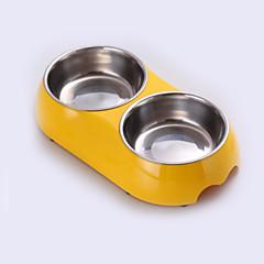 Gato Cachorro Tigelas e Bebedouros Animais de Estimação Tigelas e alimentação de animais Prova-de-ÁguaBranco Preto Amarelo Azul Rosa
