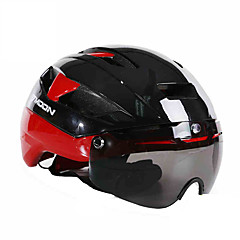 MOON® 女性用 男性用 男女兼用 バイク ヘルメット 16 通気孔 サイクリング サイクリング マウンテンサイクリング ロードバイク レクリエーションサイクリング 登山 L:58-61CM EPS EVA グリーン レッド ブルー