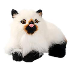 abordables Juguetes de Peluche-Gato Animales de peluche y de felpa Hecho a Mano natural Animales Clásico Felpa Chica Juguet Regalo