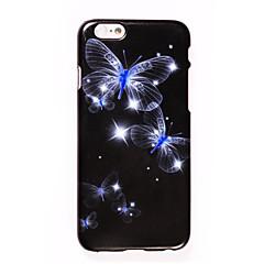 Недорогие Кейсы для iPhone 5-Кейс для Назначение Apple iPhone 7 Plus iPhone 7 Стразы С узором Своими руками Кейс на заднюю панель Бабочка Мягкий ТПУ для iPhone 7 Plus
