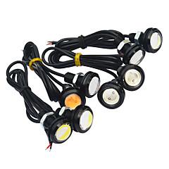 Недорогие Противотуманные фары-JIAWEN 2pcs Автомобиль Лампы 3W COB Светодиодная лампа Внешние осветительные приборы / Задний свет / Фары дневного света