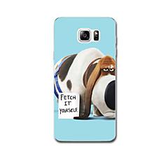 Mert Ultra-vékeny Minta Case Hátlap Case Kutya Puha TPU mert Samsung Note 5 Note 4