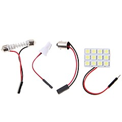 abordables Luces Interiores de Coche-2pcs BA9S Coche Bombillas 4.5W SMD 5050 320lm LED Luces interiores