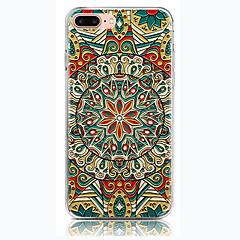 olcso iPhone 6s tokok-Case Kompatibilitás Apple iPhone 7 Plus iPhone 7 Átlátszó Fekete tok Mandala Puha TPU mert iPhone 7 Plus iPhone 7 iPhone 6s Plus iPhone