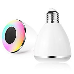 bl08a 스마트 블루투스 4.0 음악 스피커 램프는 전구 E27 지능형 조명 휴일 파티 장식 선물을 주도