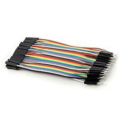 お買い得  アクセサリー-Arduinoのための雄デュポンケーブルワイヤに実用的な40ピンDIYのカラフルな男性(10センチメートル)