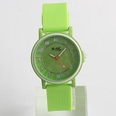 abordables Novedades-Reloj de Moda Cuarzo / Silicona Banda Casual Verde Verde