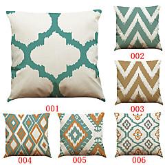 6 szt Bielizna Pokrywa Pillow Poszewka na poduszkę,Stały Textured Geometryczny Tradycyjny / Classic Wałek Styl plażowy
