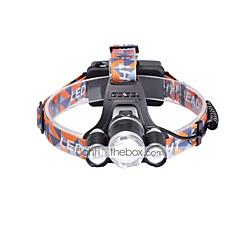 preiswerte Stirnlampen-3000 lm lm Stirnlampen LED 3 Modus - U'King Zoomable- / einstellbarer Fokus / Kompakte Größe