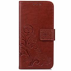 olcso Nokia tokok-Case Kompatibilitás Nokia Lumia 640 Lumia 535 Pénztárca Kártyatartó Állvánnyal Flip Teljes védelem Tömör szín Kemény Műbőr Bőr mert Nokia
