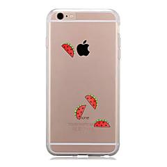 Недорогие Кейсы для iPhone 6-Кейс для Назначение Apple iPhone 7 Plus iPhone 7 Прозрачный С узором Кейс на заднюю панель Фрукты Мягкий ТПУ для iPhone 7 Plus iPhone 7