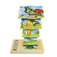 Puzzles Holzpuzzle Bausteine Spielzeug zum Selbermachen Schmetterling 1