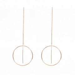 preiswerte Ohrringe-Damen Quaste Kreolen / Ohrringe baumeln - Personalisiert, Modisch Gold / Silbern Für Alltag / Normal