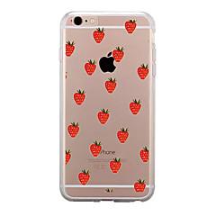 Недорогие Кейсы для iPhone 4s / 4-Кейс для Назначение Apple iPhone X / iPhone 8 / iPhone 8 Plus Прозрачный / С узором Кейс на заднюю панель Фрукты Мягкий ТПУ для iPhone X / iPhone 8 Pluss / iPhone 8