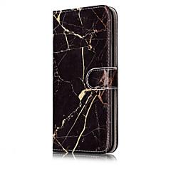 Недорогие Кейсы для iPhone 6-Для Кошелек Бумажник для карт со стендом Флип С узором Кейс для Чехол Кейс для Мрамор Твердый Искусственная кожа для AppleiPhone 7 Plus