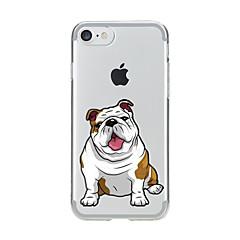 Til iPhone X iPhone 8 Etuier Transparent Mønster Bagcover Etui Hund Blødt TPU for Apple iPhone X iPhone 8 Plus iPhone 8 iPhone 7 Plus
