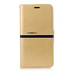 Для Бумажник для карт Кошелек со стендом Флип Кейс для Чехол Кейс для Один цвет Твердый Искусственная кожа для XiaomiXiaomi Redmi 4a