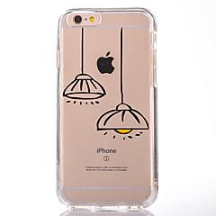 Недорогие Кейсы для iPhone 4s / 4-Кейс для Назначение Apple iPhone 7 Plus iPhone 7 Прозрачный С узором Кейс на заднюю панель Мультипликация Мягкий ТПУ для iPhone 7 Plus