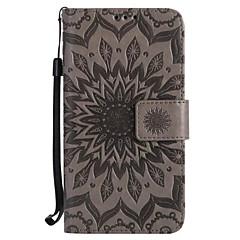 Etui Käyttötarkoitus Samsung Galaxy S7 edge S7 Korttikotelo Lomapkko Tuella Flip Koristeltu Kokonaan peittävä Kukka Kova PU-nahka varten