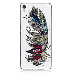 For Sony Xperia XA Case Cover Feathers Pattern Luminous TPU Material IMD Process Soft Case Phone Case