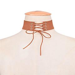 preiswerte Halsketten-Damen Halsketten - Schleife Personalisiert, Euramerican Verstellbar Schwarz, Grau, Braun Modische Halsketten Schmuck Für Alltag, Normal